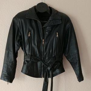 Wilson black leather jacket